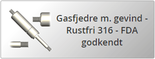 Rustfri gasfjedre AISI 316