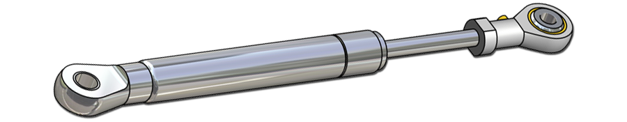 Gasfjedre - rustfri stål