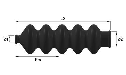 Technische Zeichnung - Gummibalg