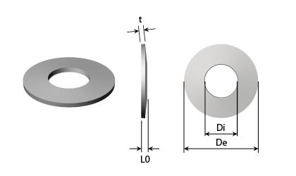 Teknisk tegning - Tallerkenfjedre - Sort Stål