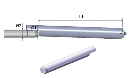 Technische Zeichnung - Arretierung - Edelstahl