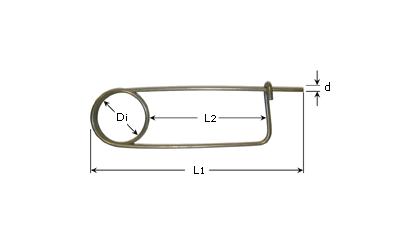 Teknisk tegning - Låsesplitter - Rustfri