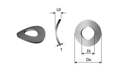 Teknisk tegning - Kurvede fjederskiver